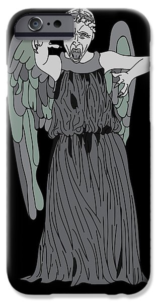 Dr. Who iPhone Cases - Dont Blink iPhone Case by Jera Sky