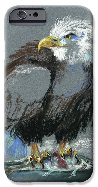 Eagle Pastels iPhone Cases - Dont Even Think About It iPhone Case by Pat Oldham