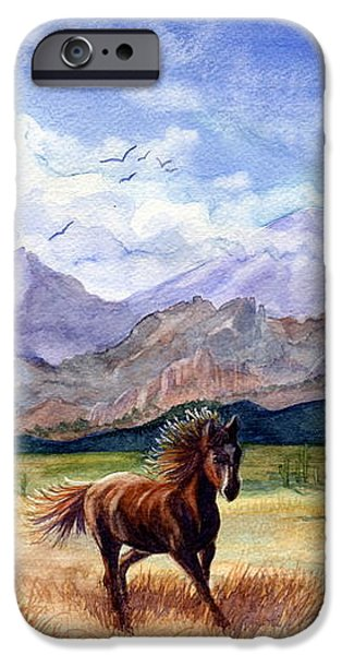 Freedom iPhone Cases - Dont Fence Me In iPhone Case by Marilyn Smith