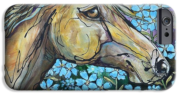Paso Fino Stallion iPhone Cases - Dont Forget Me iPhone Case by Jonelle T McCoy