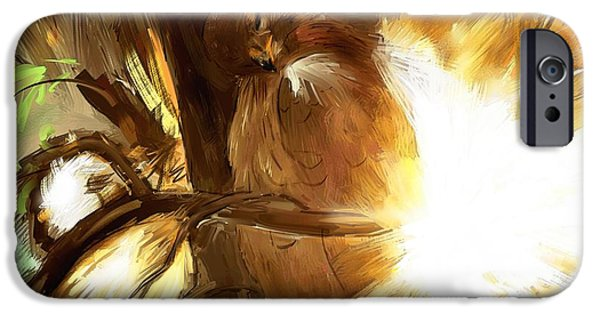Spirit Hawk iPhone Cases - Dont miss the unseen iPhone Case by Richard Okun