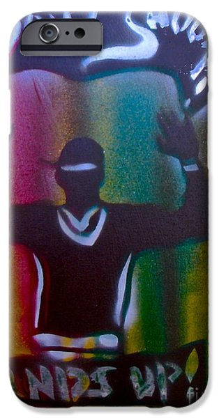 First Amendment Paintings iPhone Cases - Dont Shoot Man iPhone Case by Tony B Conscious