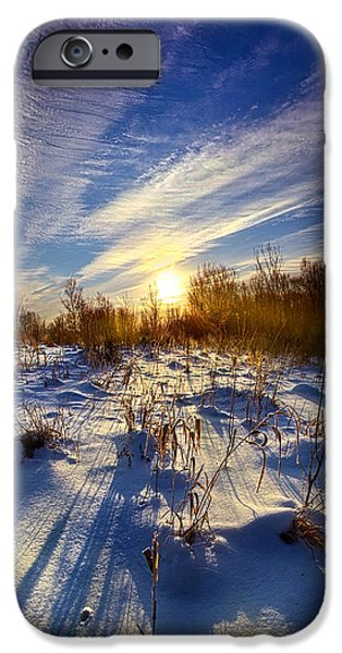 Meadow Photographs iPhone Cases - Dont Stop Believin iPhone Case by Phil Koch