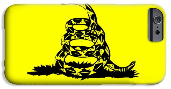 Tea Party iPhone Cases - Dont Tread On Me Flag iPhone Case by War Is Hell Store