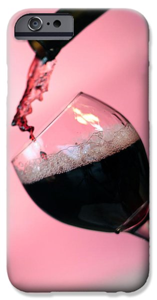 Wine Pour iPhone Cases - Dont Whine over spilled Wine iPhone Case by Michael Ledray