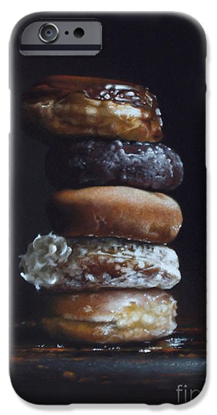 Donuts iPhone Cases - DONUT TOWER no.3 iPhone Case by Larry Preston