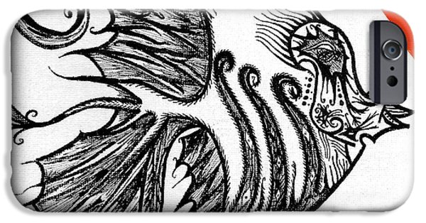 Irish Photographs iPhone Cases - Doodle eye. iPhone Case by Keith Harkin