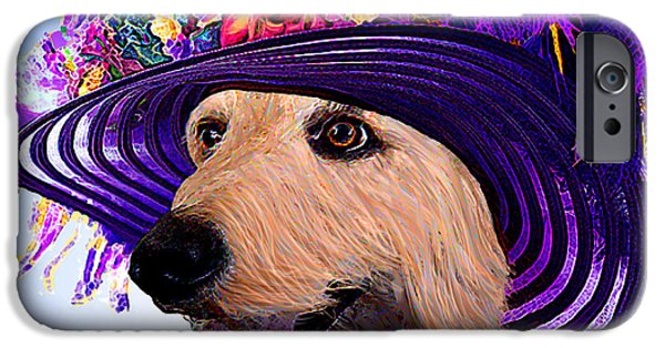 Canine Greeting Cards Digital Art iPhone Cases - Doodle To The Derby iPhone Case by Michele  Avanti