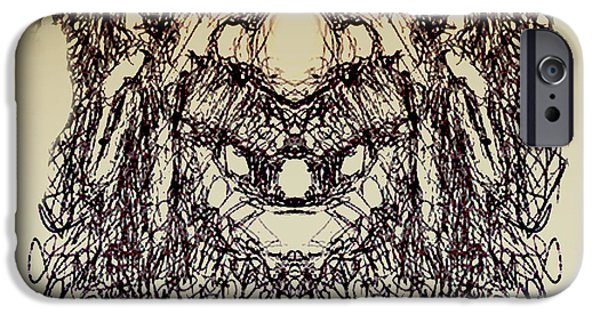 Pirate Drawing iPhone Cases - doodle923A iPhone Case by Nate Owens