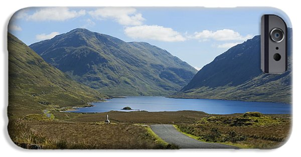 Wayside Cross iPhone Cases - Doolough Pass County Mayo Ireland iPhone Case by Jane McIlroy