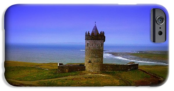 No People Pyrography iPhone Cases - Doonagore Castle - Co. Clare - Ireland iPhone Case by Ilona Asaciova