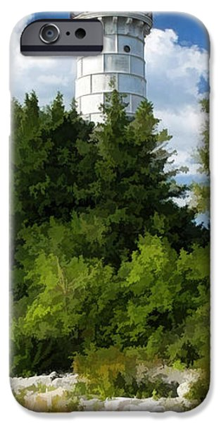 Chicago Paintings iPhone Cases - Door County Cana Island Vertical Panorama iPhone Case by Christopher Arndt