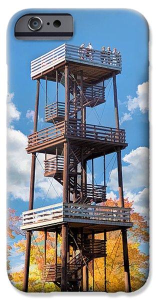 Observation iPhone Cases - Door County Eagle Tower Peninsula State Park iPhone Case by Christopher Arndt