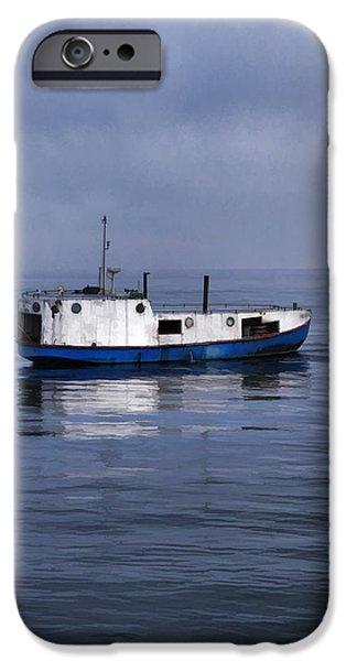 Door County Gills Rock Trawler iPhone Case by Christopher Arndt