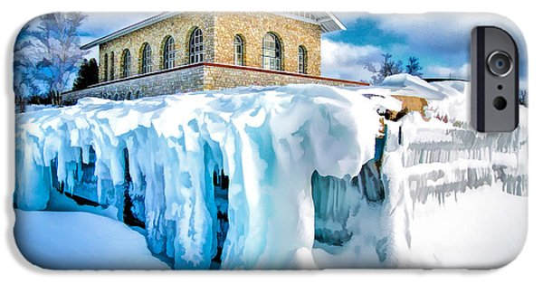 Vikings Paintings iPhone Cases - Door County Rock Island Chester Thordarson Boathouse iPhone Case by Christopher Arndt