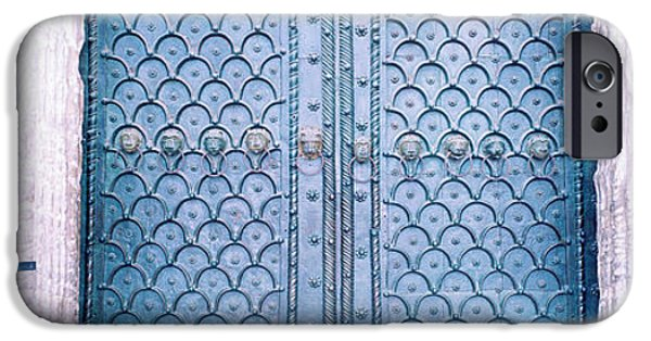 Venetian Doors iPhone Cases - Door Detail St Marks Square Venice Italy iPhone Case by Panoramic Images