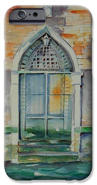 Venetian Doors iPhone Cases - Door in Venice-Italy iPhone Case by Geeta Biswas