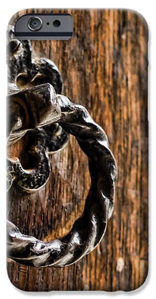 Door Knocker iPhone Case by Heather Applegate