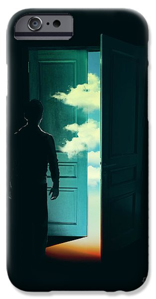 Budi Satria Kwan iPhone Cases - Door To the World iPhone Case by Budi Satria Kwan