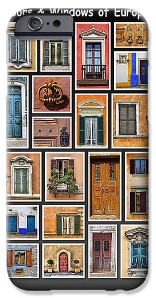 Doors and Windows of Europe iPhone Case by David Letts