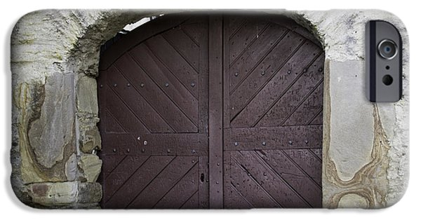 Historic Site iPhone Cases - Doors at Marksburg Castle iPhone Case by Teresa Mucha