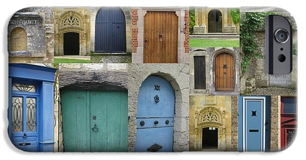 Vineyard Photograph iPhone Cases - Doors in France and Belgium iPhone Case by Cathy Jacobs