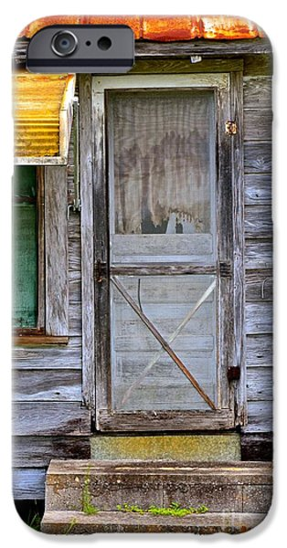 Dirty iPhone Cases - Doorway into the Past iPhone Case by AnnaJo Vahle