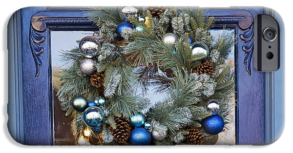 Christmas Holiday Scenery iPhone Cases - Doorway to Christmas iPhone Case by Kenneth Albin