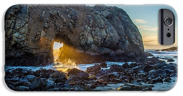 Pfeiffer Beach iPhone Cases - Doorway to Heaven iPhone Case by Pierre Leclerc Photography