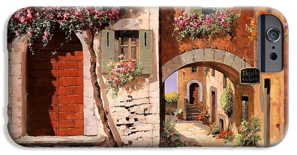 Door iPhone Cases - Doppia Casa iPhone Case by Guido Borelli