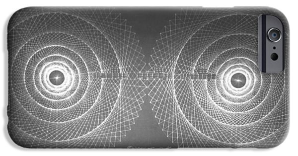 Fractal Drawings iPhone Cases - Doppler Effect Parallel Universes iPhone Case by Jason Padgett