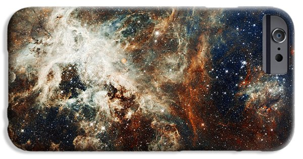 Galactic Paintings iPhone Cases - Doradus Nebula iPhone Case by Celestial Images