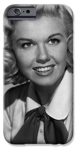 1950s Portraits iPhone Cases - Doris Day in Its a Great Feeling iPhone Case by Nomad Art And  Design