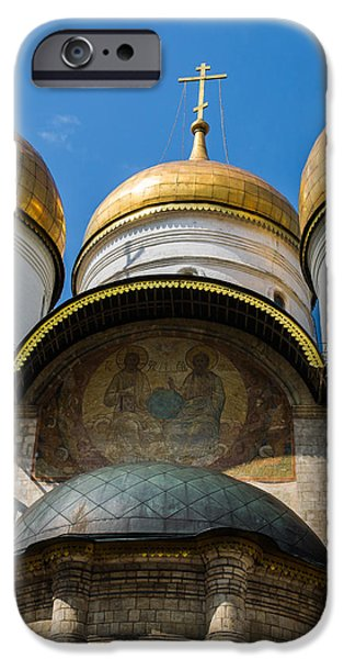 Dormition Cathedral - Square iPhone Case by Alexander Senin