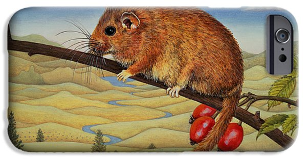 Berry iPhone Cases - Dormouse Number Two, 1994 iPhone Case by Ditz