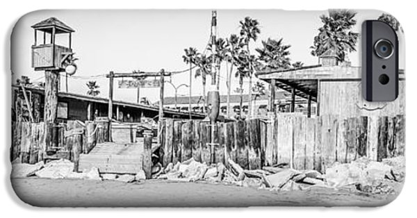 Historical Pictures iPhone Cases - Dory Fish Market Newport Beach Panorama Photo  iPhone Case by Paul Velgos