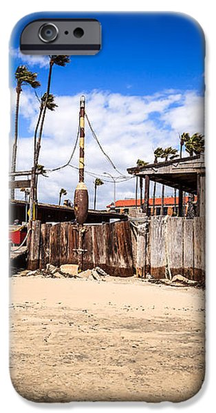 Dory Fishing Fleet Market in Newport Beach California iPhone Case by Paul Velgos