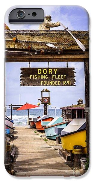 Newport Photographs iPhone Cases - Dory Fishing Fleet Market Newport Beach California iPhone Case by Paul Velgos