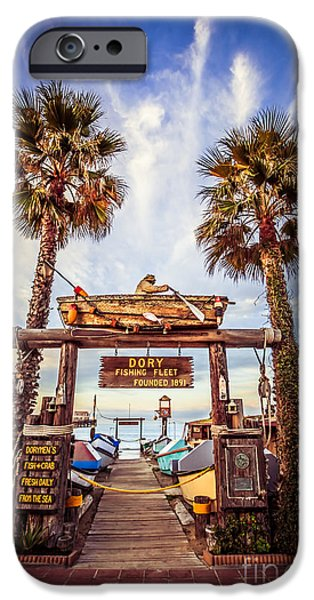 Orange County Photographs iPhone Cases - Dory Fishing Fleet Market Picture Newport Beach iPhone Case by Paul Velgos