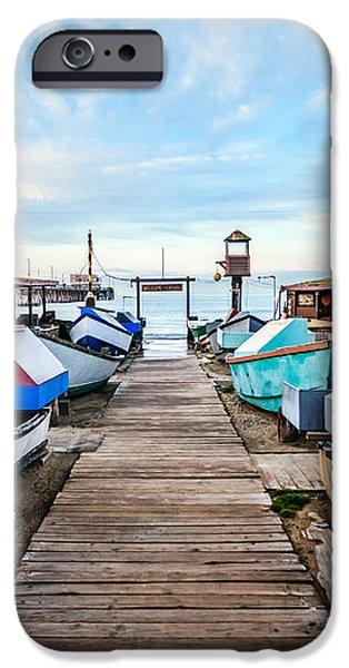 Dory Fishing Fleet Newport Beach California iPhone Case by Paul Velgos