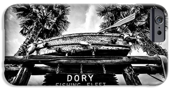 Recently Sold -  - Beach iPhone Cases - Dory Fishing Fleet Sign Picture in Newport Beach iPhone Case by Paul Velgos