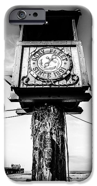 Crows iPhone Cases - Dory Fleet Crows Nest Black and White Picture iPhone Case by Paul Velgos
