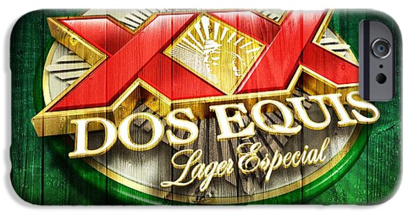 Man Cave Mixed Media iPhone Cases - Dos Equis Barn iPhone Case by Dan Sproul