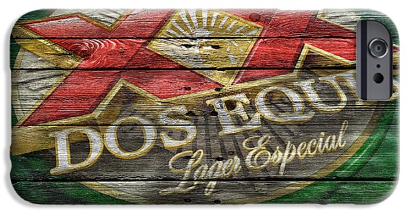 Saloons iPhone Cases - Dos Equis iPhone Case by Joe Hamilton