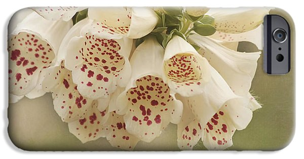 Foxglove Flowers Photographs iPhone Cases - Dots-Foxglove Flower iPhone Case by Kim Hojnacki