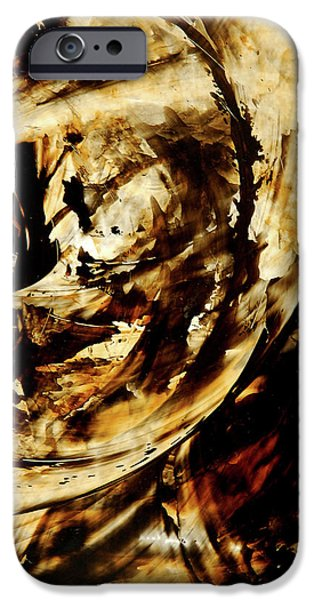Earth Tone Art iPhone Cases - Double Espresso iPhone Case by Sharon Cummings