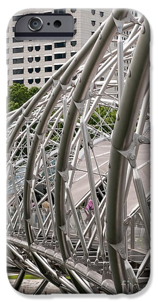Stainless Steel iPhone Cases - Double Helix Bridge 01 iPhone Case by Rick Piper Photography