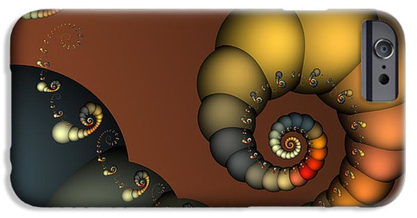 Fractal iPhone Cases - Double Loop iPhone Case by Karin Kuhlmann