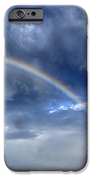 Double Rainbow over Mountain iPhone Case by Thomas R Fletcher