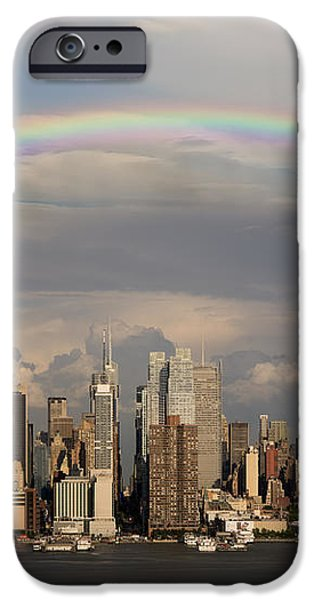 Double Rainbow Over NYC iPhone Case by Susan Candelario